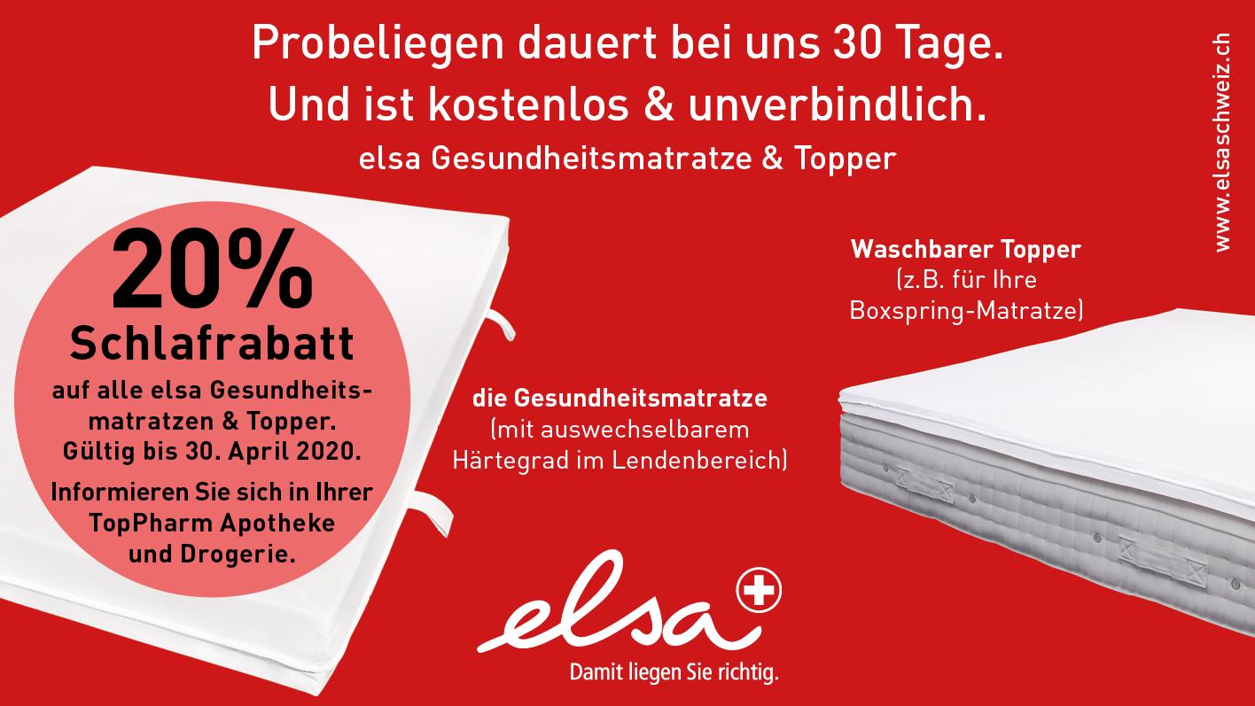TopPharm Apotheke / elsa Gesundheitsmatratzen & Topper