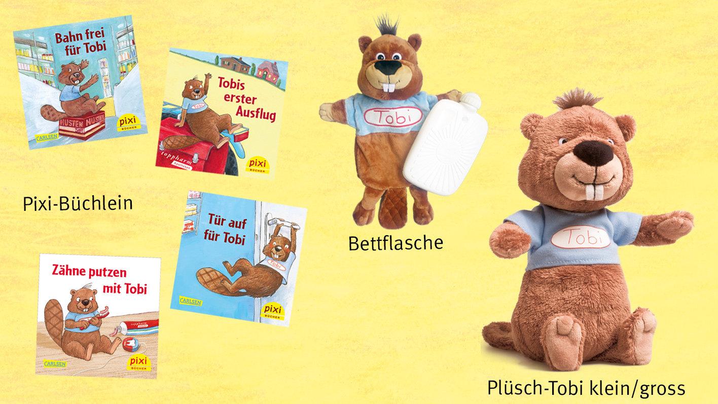 Tobi Pixi-Büchlein und Fanartikel: jetzt bestellen!   toppharm.ch