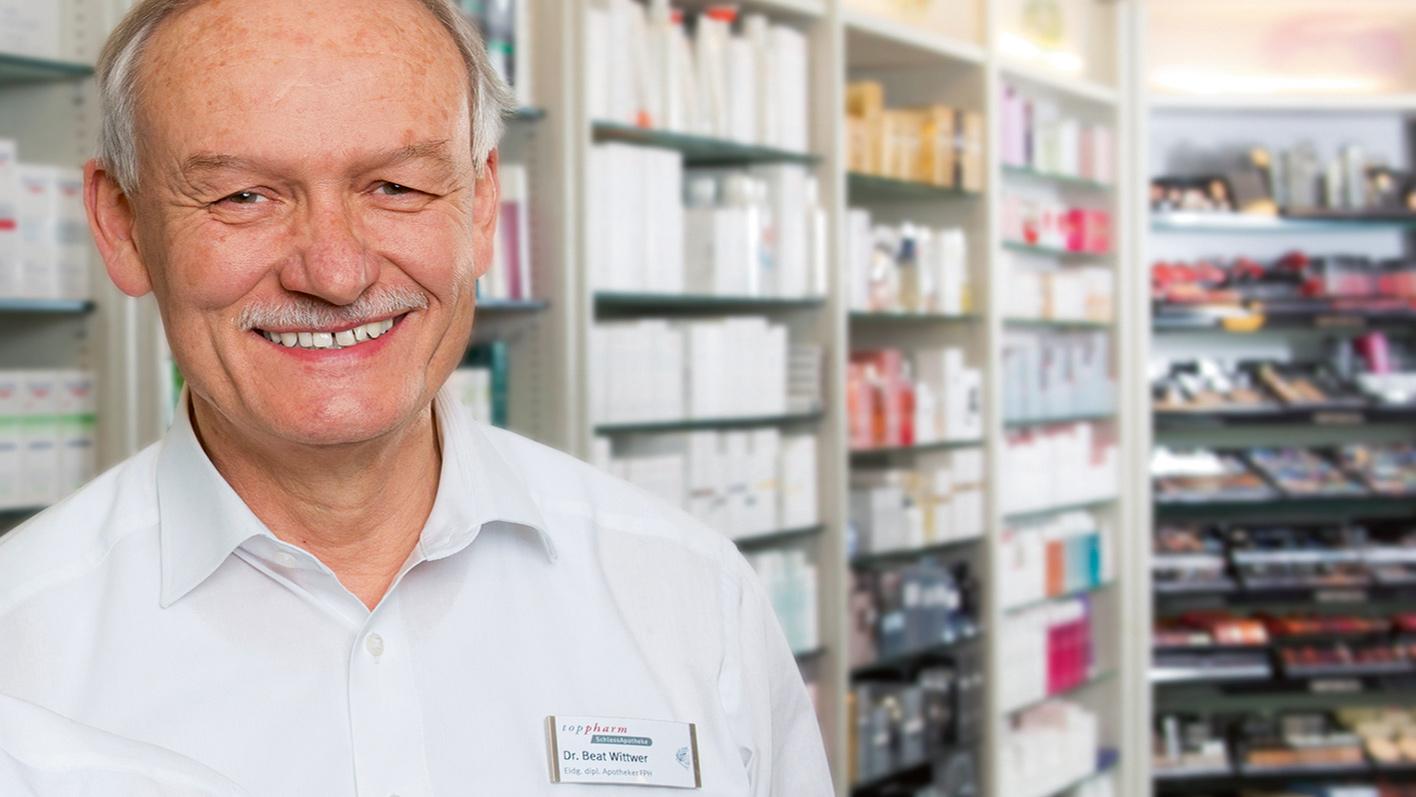 Dr. pharm. Beat Wittwer, Apotheker in der TopPharm SchlossApotheke in Laupen