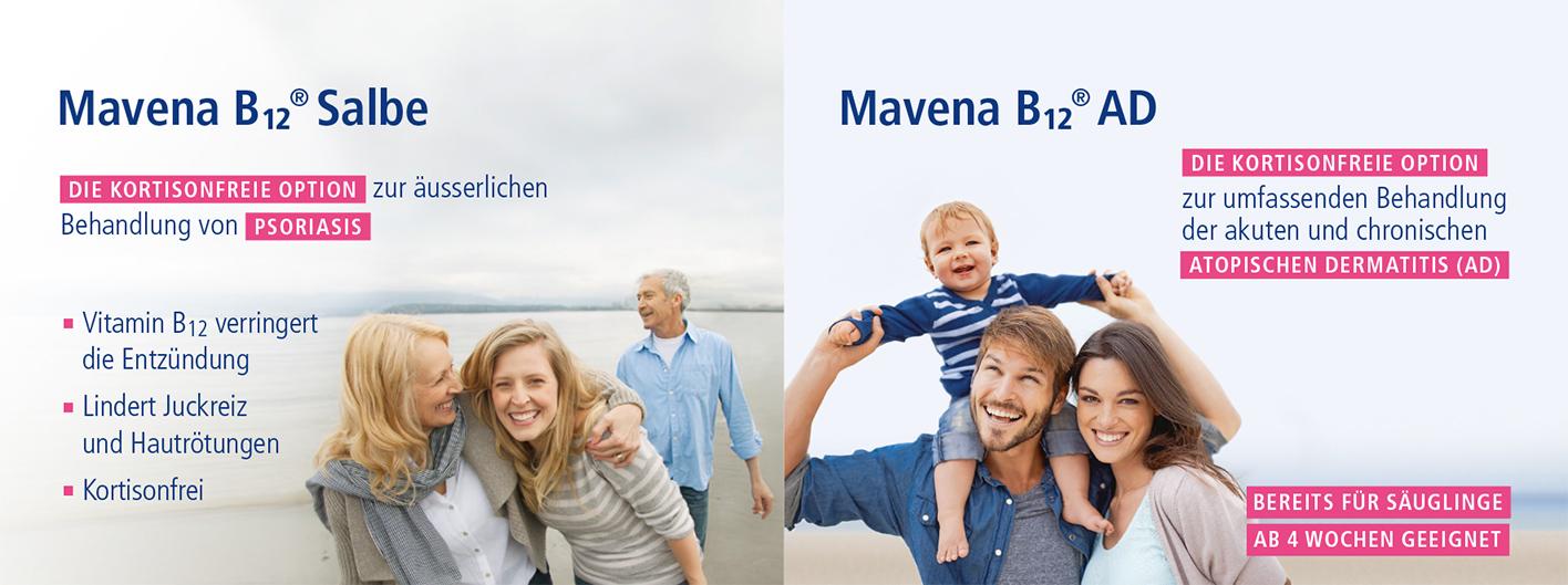 Mavena Vitamin B12 Linie: Psoriasis und Neurodermitis ohne Kortison behandeln