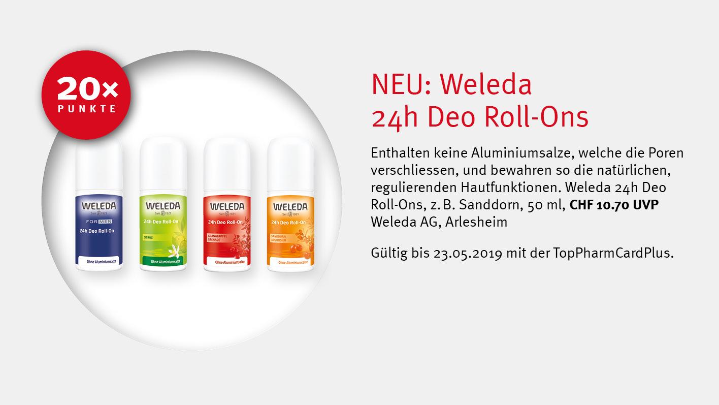 WELEDA 24h Deo Roll-Ons / TopPharm Apotheke / TopPharmCardPlus