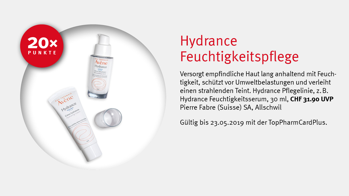Avène Hydrance / TopPharm Apotheke / TopPhamCardPlus Angebote
