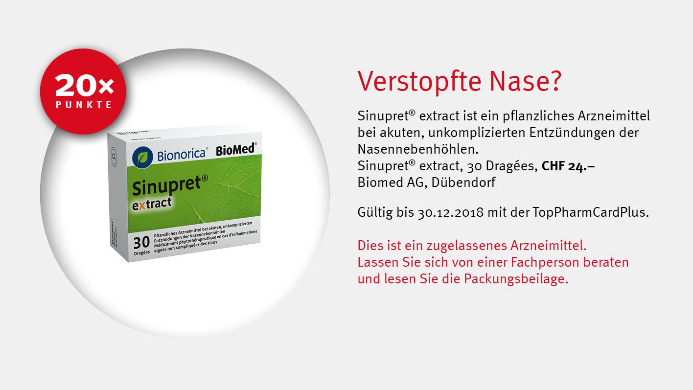 Biomed AG/ Sinupret® extract / TopPharm Apotheke / Ihr Gesundheits-Coach