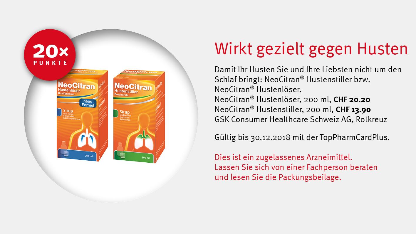 Neocitran® / GSK Consumer Healthcare Schweiz AG / TopPharm / Ihr Gesundheits-Coach