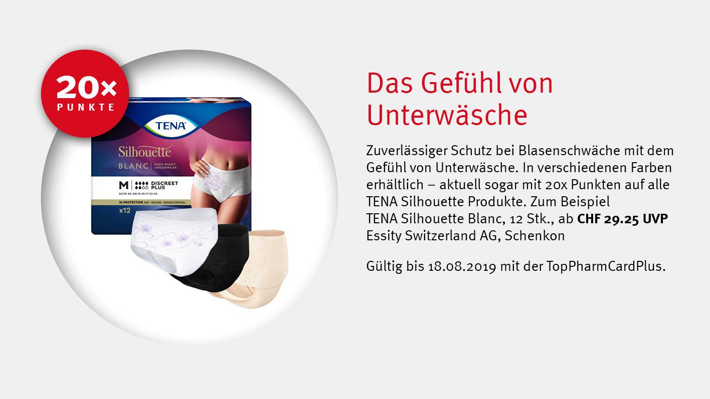 TENA Silhouette / TopPharm Apotheke / TopPhamCardPlus Angebote