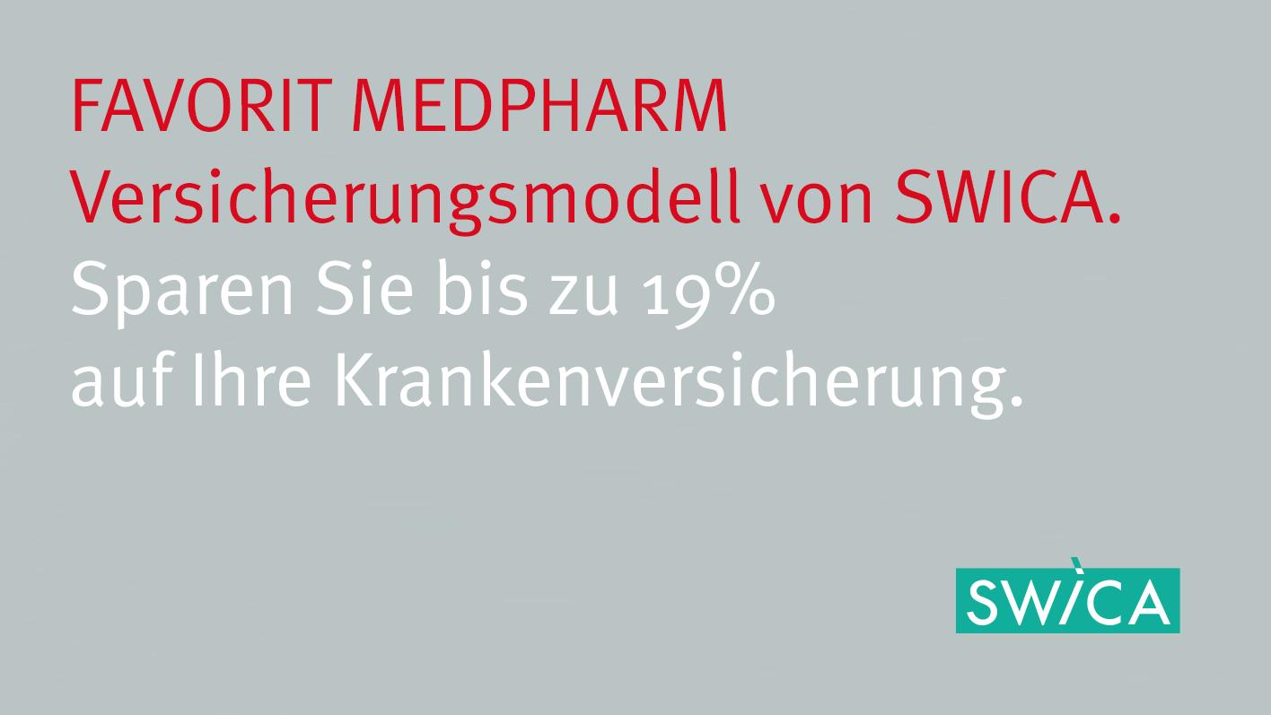 FAVORIT MEDPHARM – das innovative Versicherungsmodell von SWICA und TopPharm Apotheken. Die Apotheke als erste Anlaufstelle bei gesundheitlichen Beschwerden