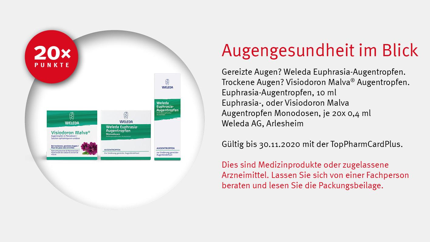 Angebote TopPharmCardPlus - Weleda Augentropfen