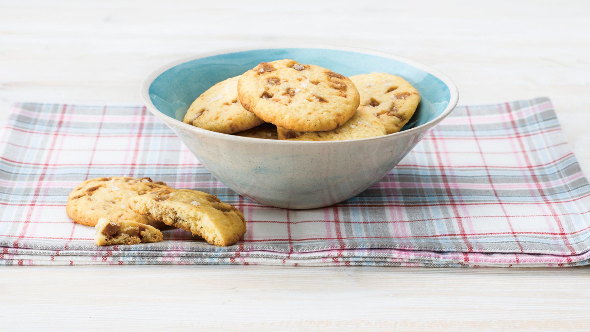 Cookies mit Caramel und Fleur de Sel