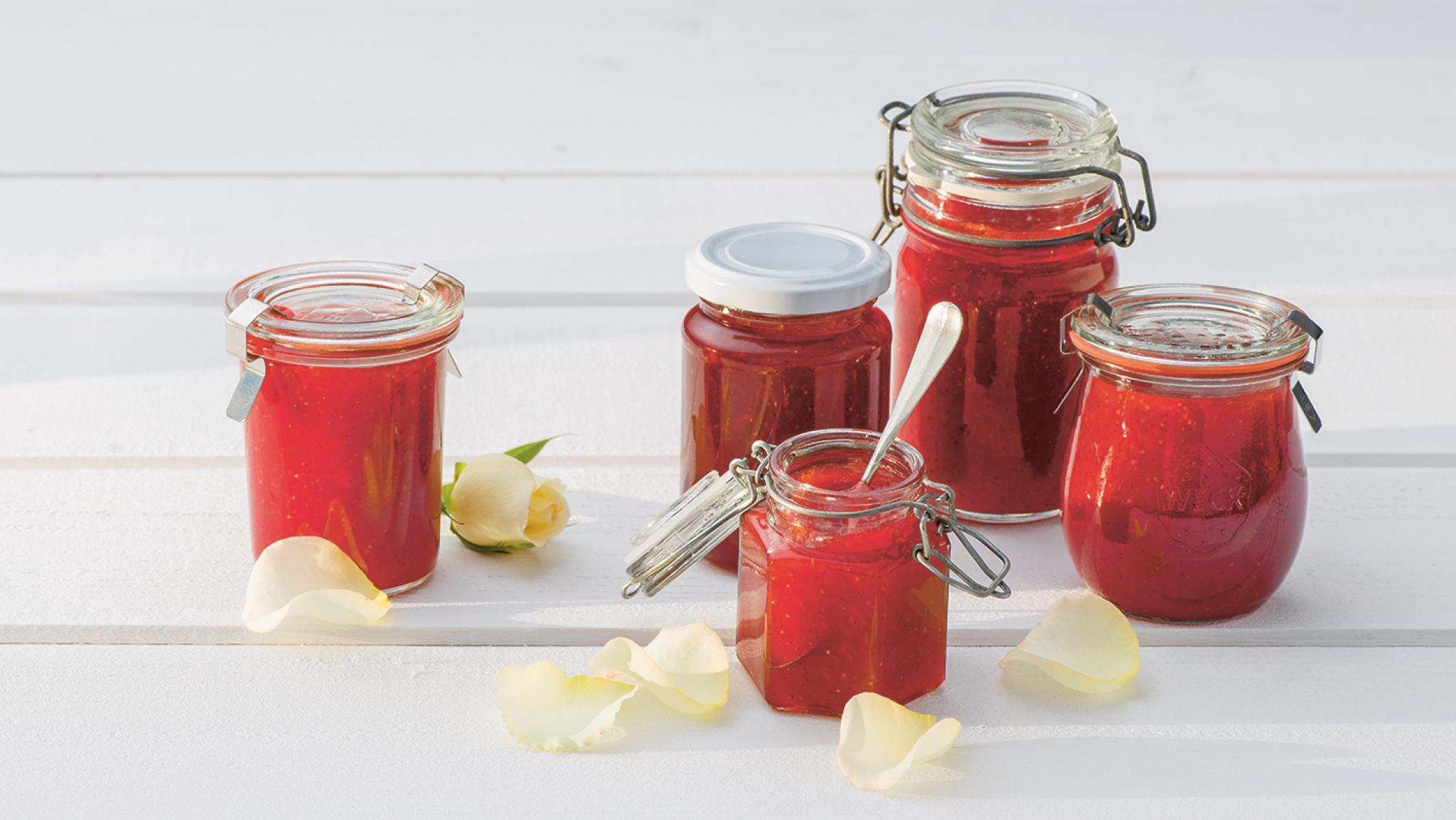 Erdbeer-Rosen-Konfitüre