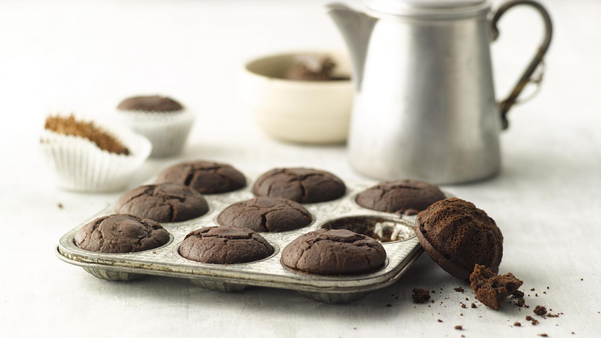 Kaffee-Muffins mit Schokoladentruffes