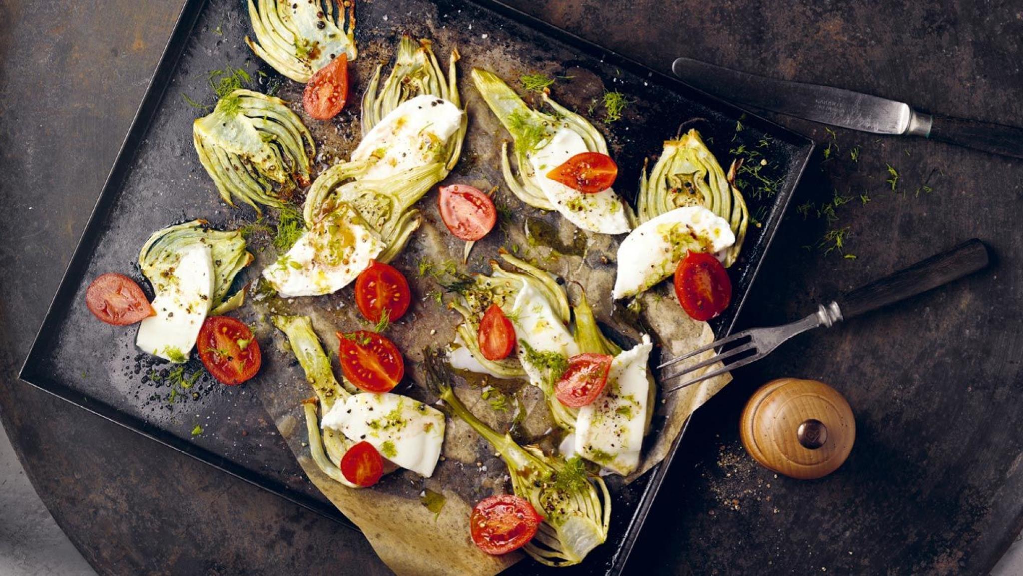 Gebackener Fenchelsalat mit Mozzarella